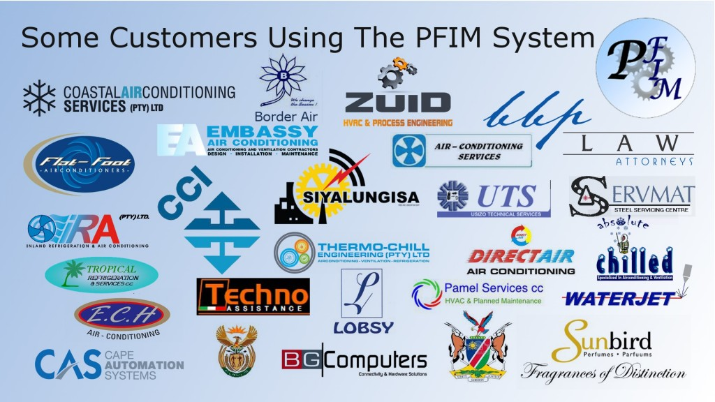 Some organisations currently using PFIM